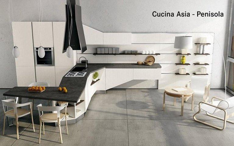 Cucina Asia con penisola