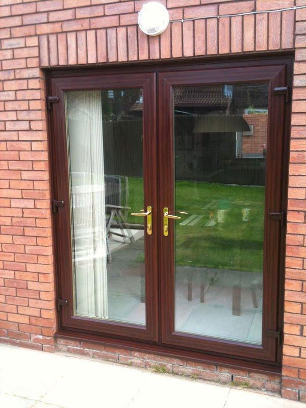 double glazed glass door