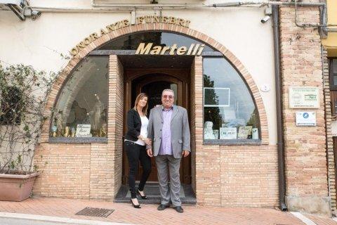 la sede dell'agenzia funebre Martelli