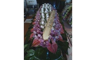 fiori cofano funebre