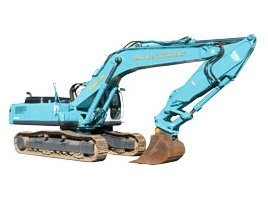 john lacey earthmoving p l blue excavator in working area