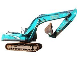 john lacey earthmoving p l blue excavator in working site