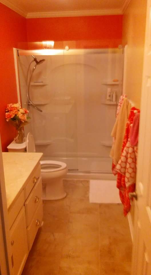 bathroom redo in benton
