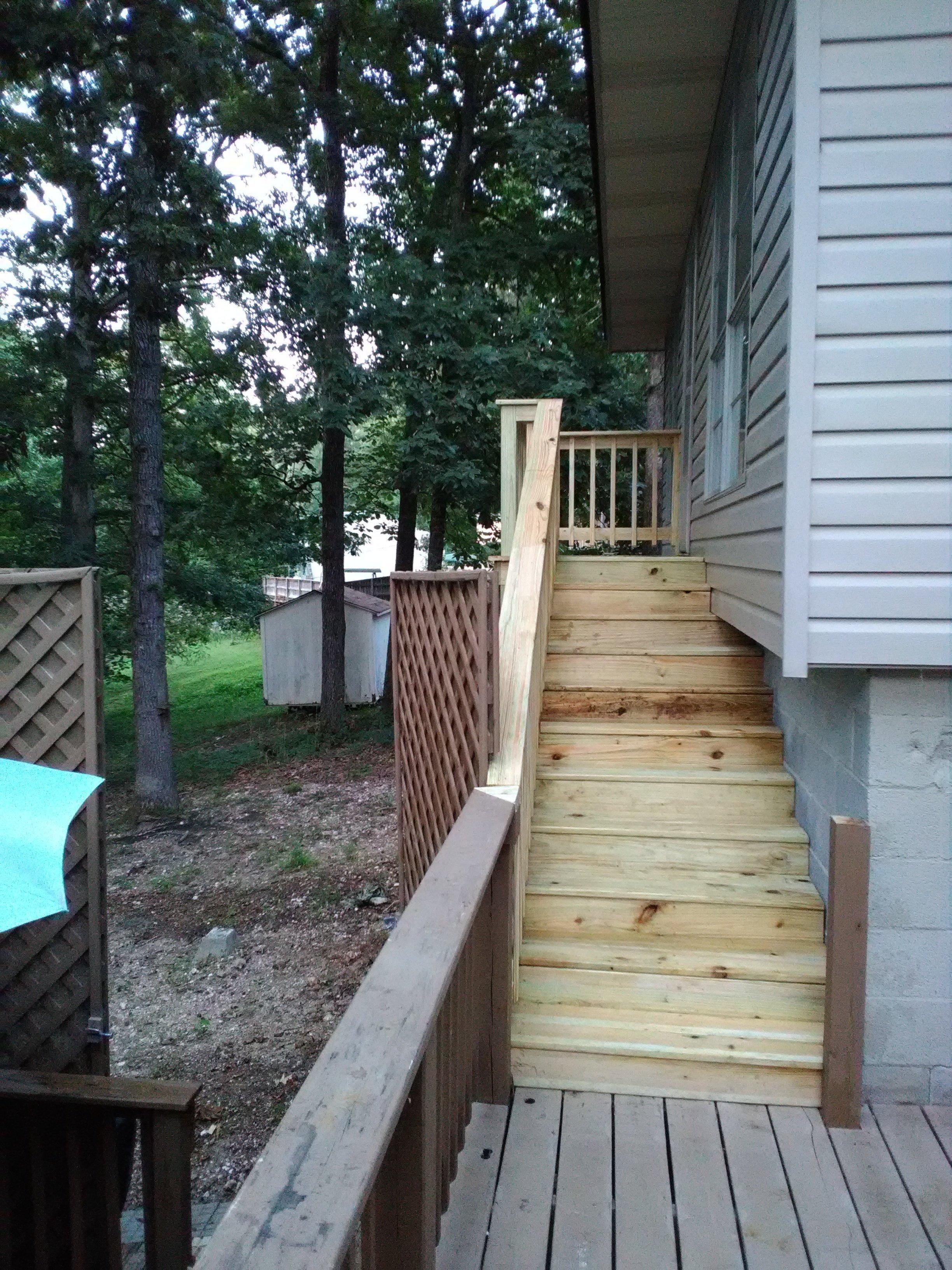 deck steps in benton