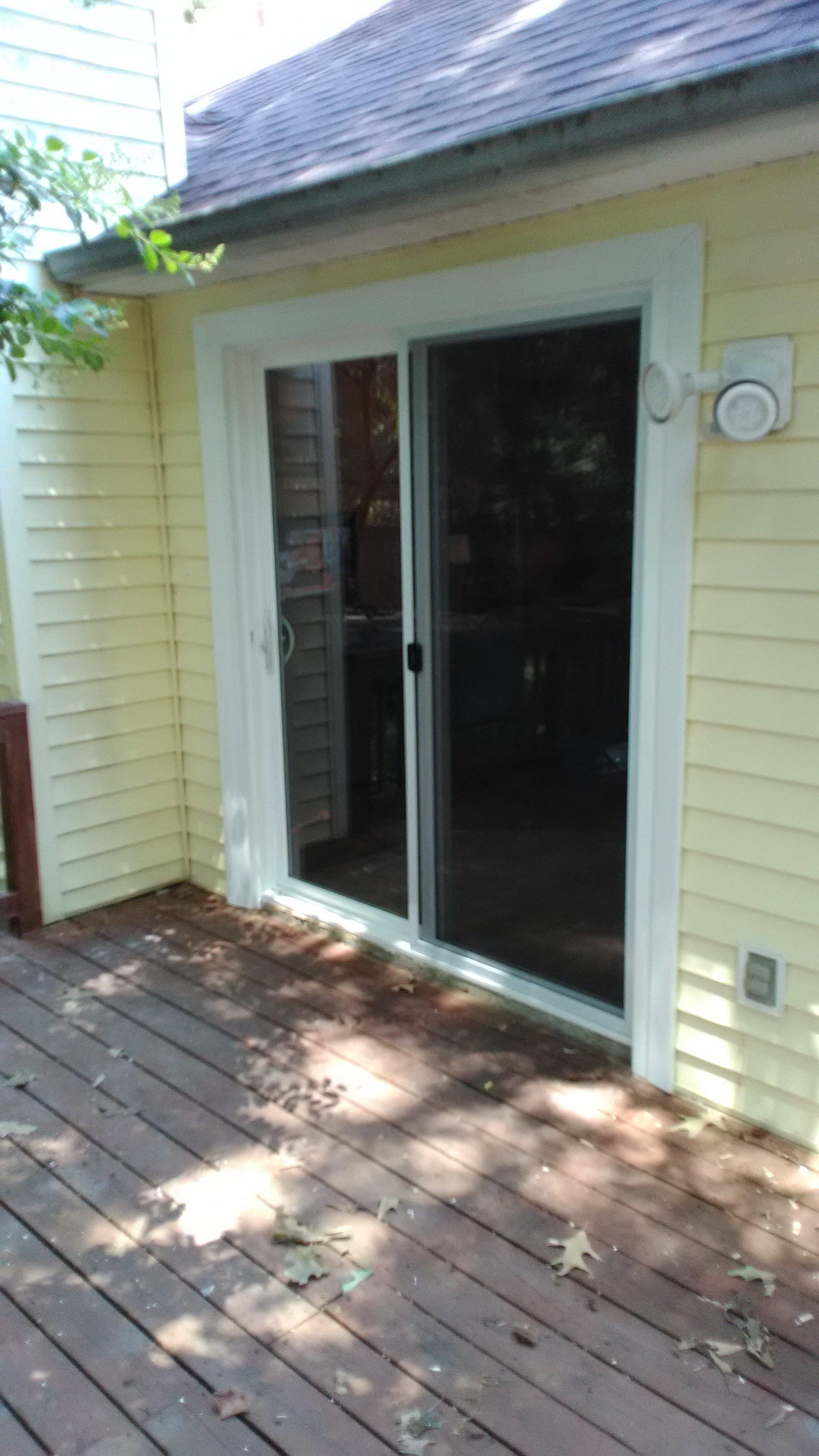 patio door installation in benton
