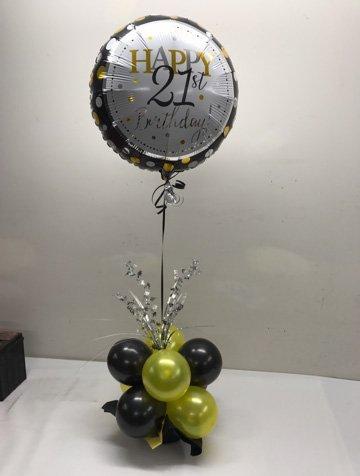 twenty first birthday balloon