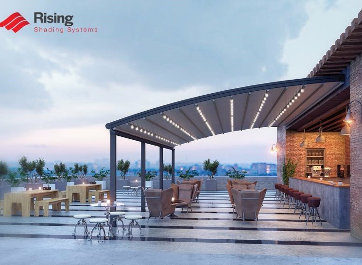 Retracting roof system