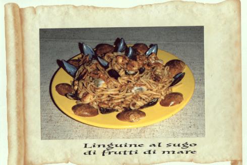 primo piatto ai frutti di mare