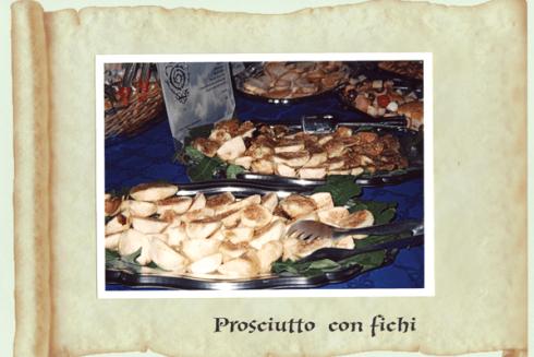 vassoio di prosciutto e fichi