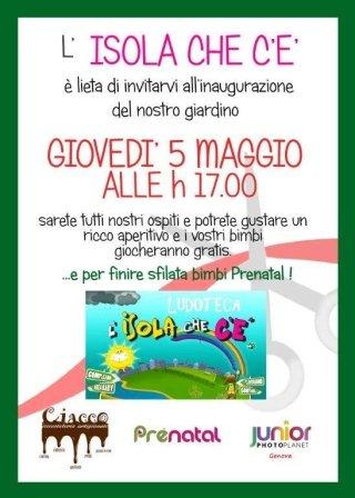 Evento 5 Maggio inaugurazione giardino Ludoteca Genova