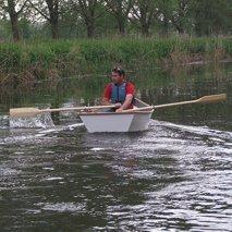 a man boating