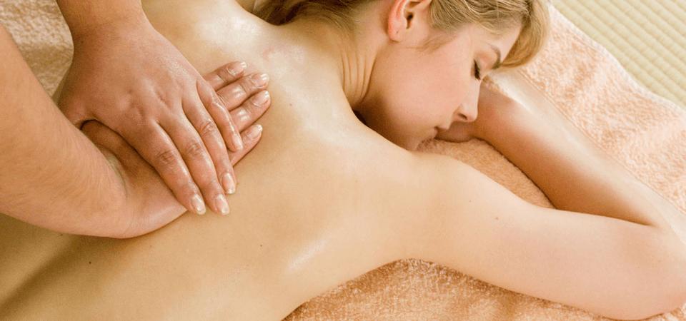 A lady having a massage