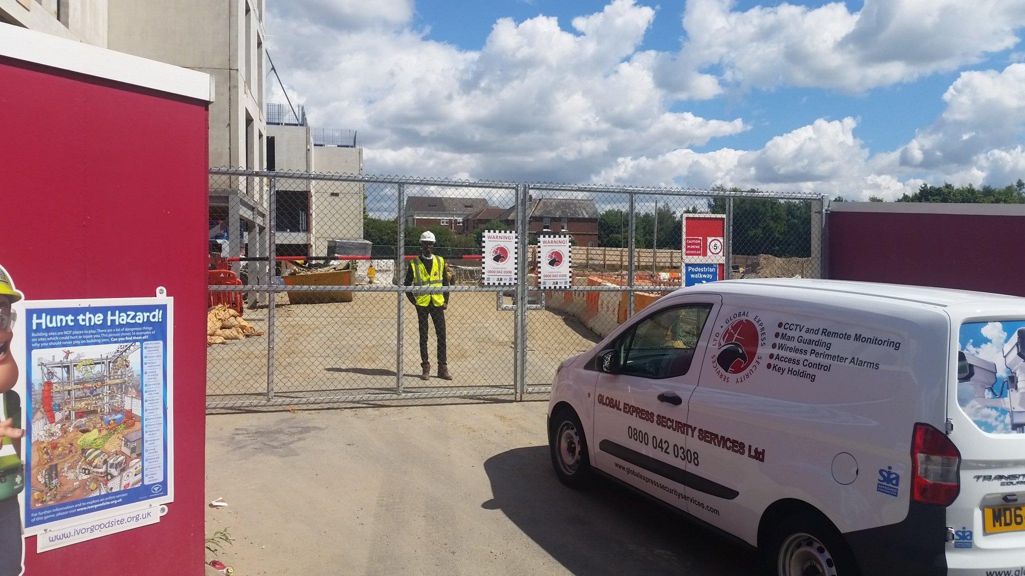 Construction site security personnel