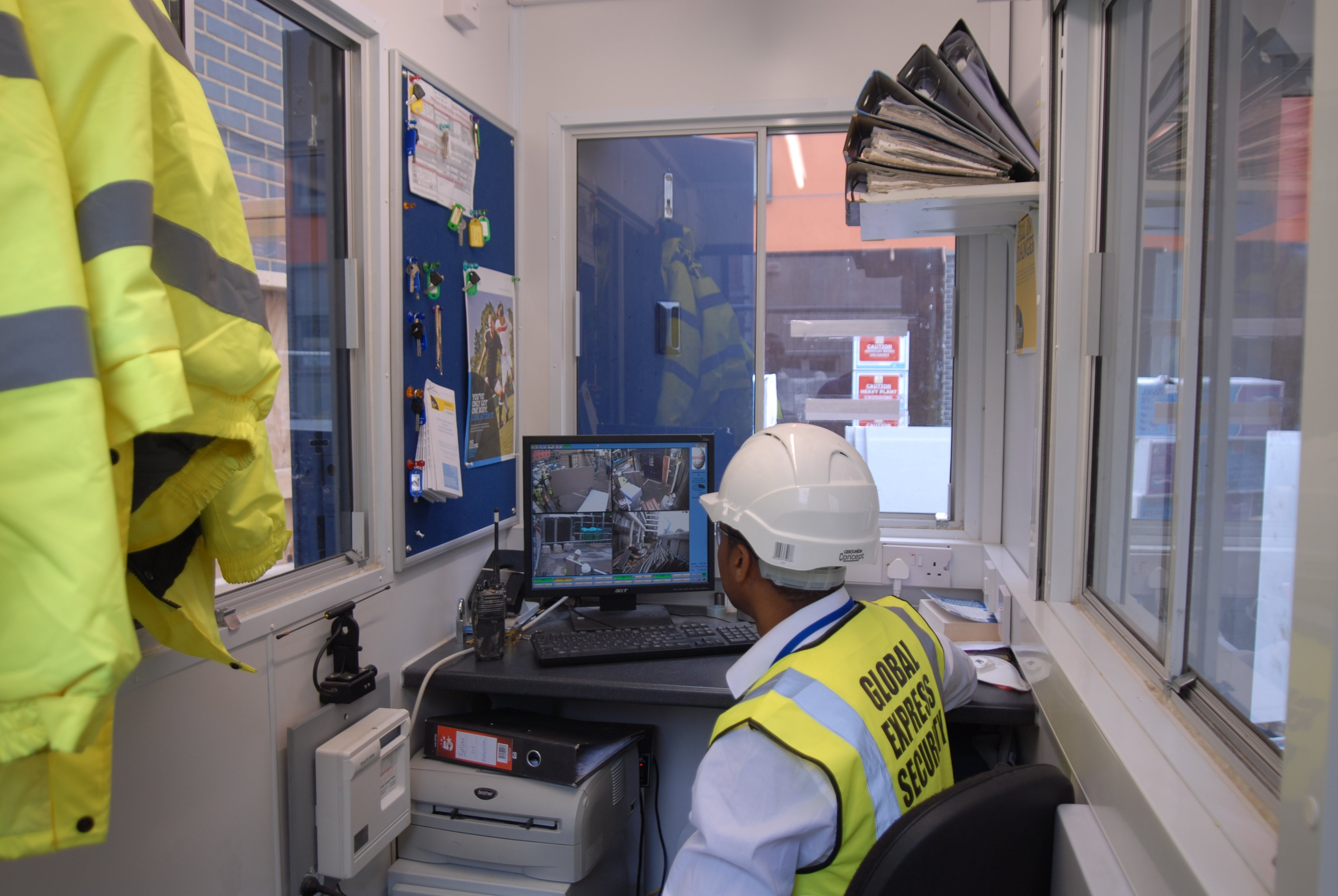 At work at Global Exoress Security Services Ltd