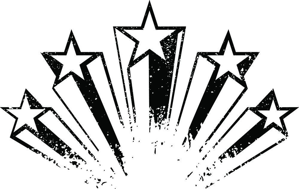 Shooting stars,vector illustration