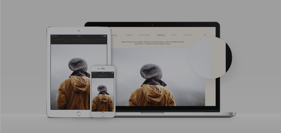 Desktop, Mobile, Tablet view of website design