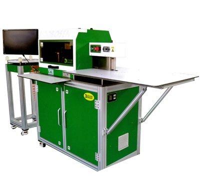 Macchina laser verde