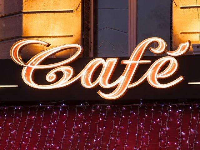 Neon café