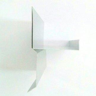 Scossalina sez. 38 in alluminio satinato