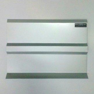 Frontalino specifico per balconi in alluminio satinato