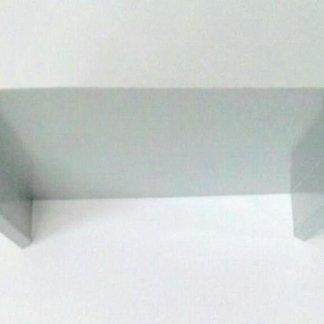 Coprimuro in alluminio satinato con borchia copri tassello
