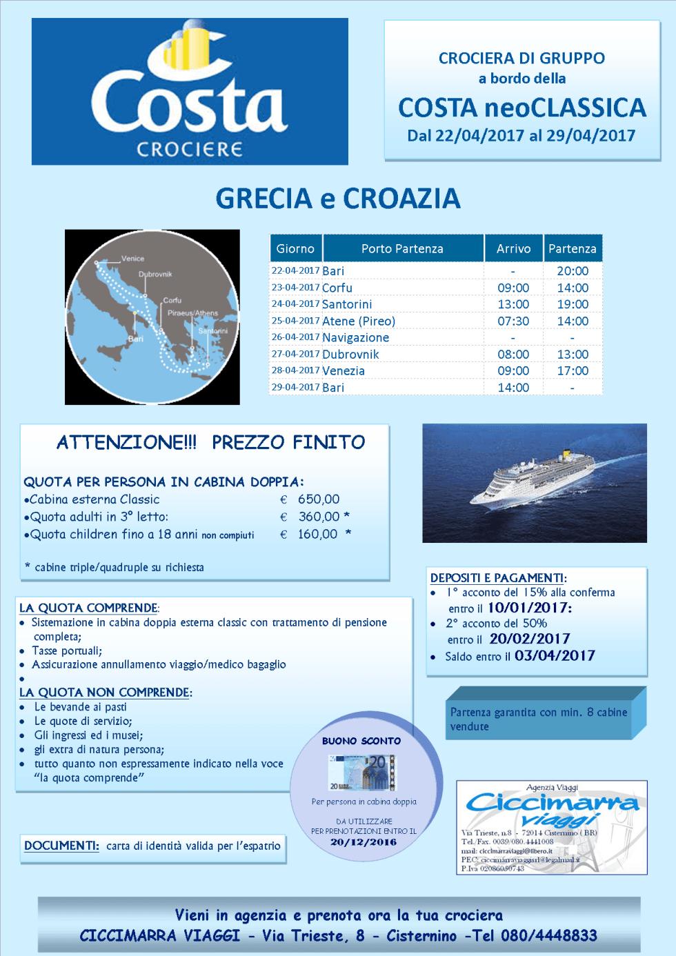 Costa neoClassica Cruise