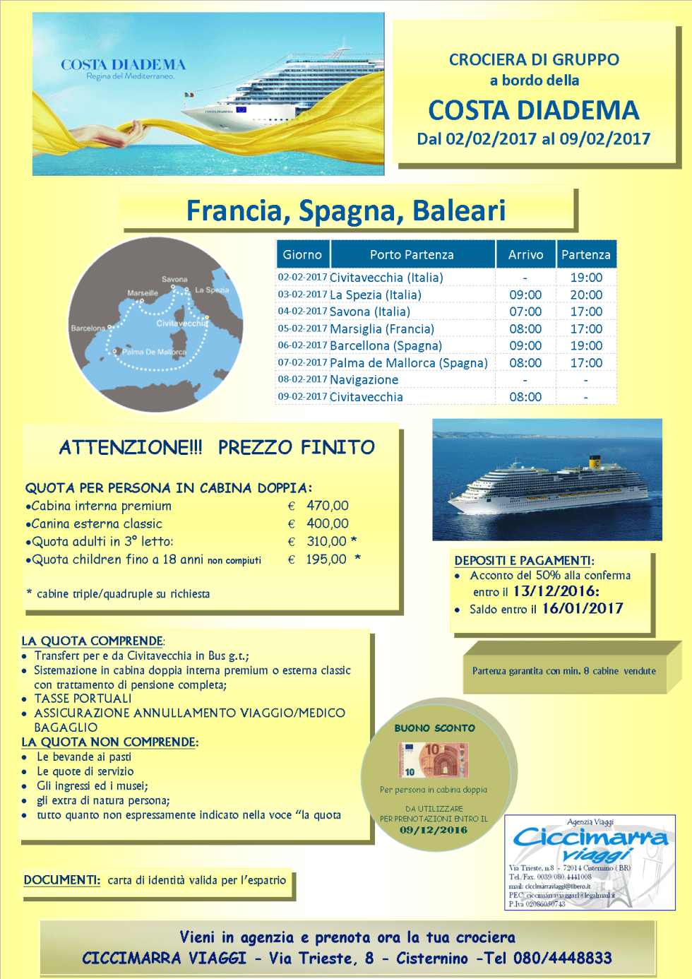 Costa Diadema cruise