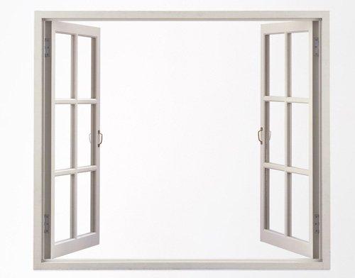 struttura finestra bianca in metallo
