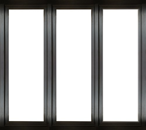 struttura finestra nera in metallo