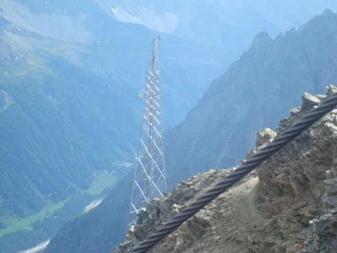 Construction of relays on mountains