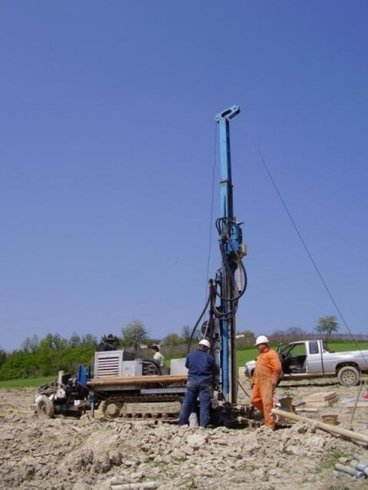 Drilling into subsoil for geognostic surveys