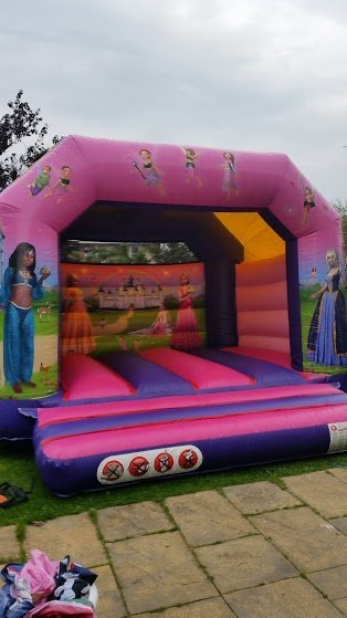 Side view of the princess inflatables