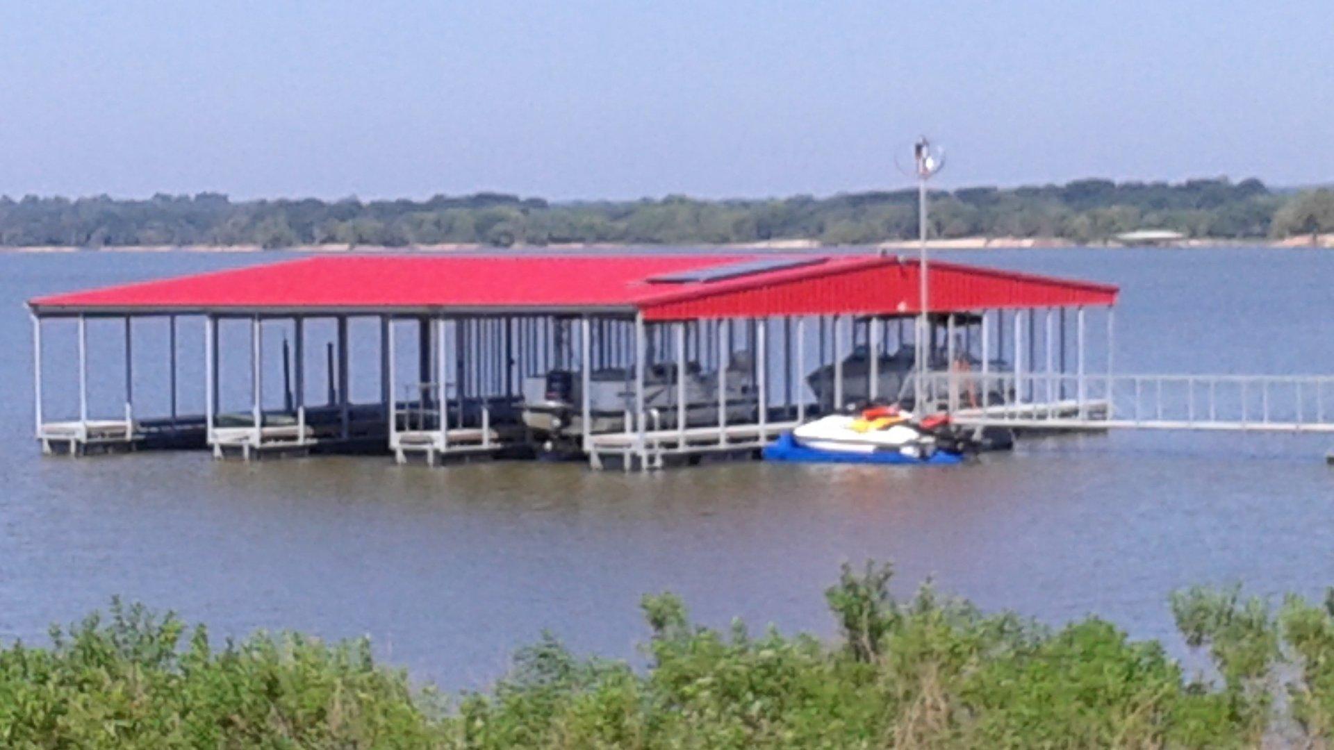 Hybrid Wind/Solar Powered Dock