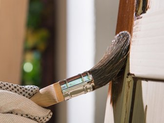 Painting stain onto a wooden fence, Garden Supplies, fencing, decking, sheds, landscaping, decking, Swansea