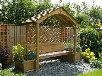 Gazebo and seat, garden sheds, gazebos, garden furniture and swansea