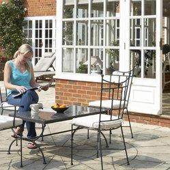 Patio with oudoor garden furniture