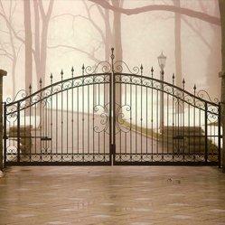 Ornamental metal entrance gates