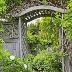 Rustic wooden archway