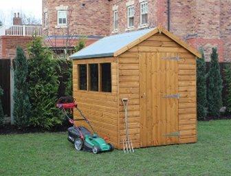 Wooden garden cabin