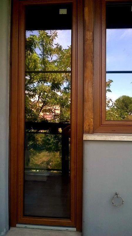 porte a vetri in legno