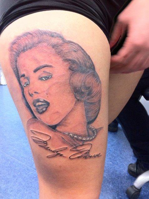 Marilyn tattoo