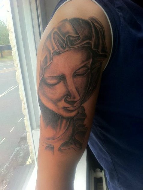 Mother Mary tattoo