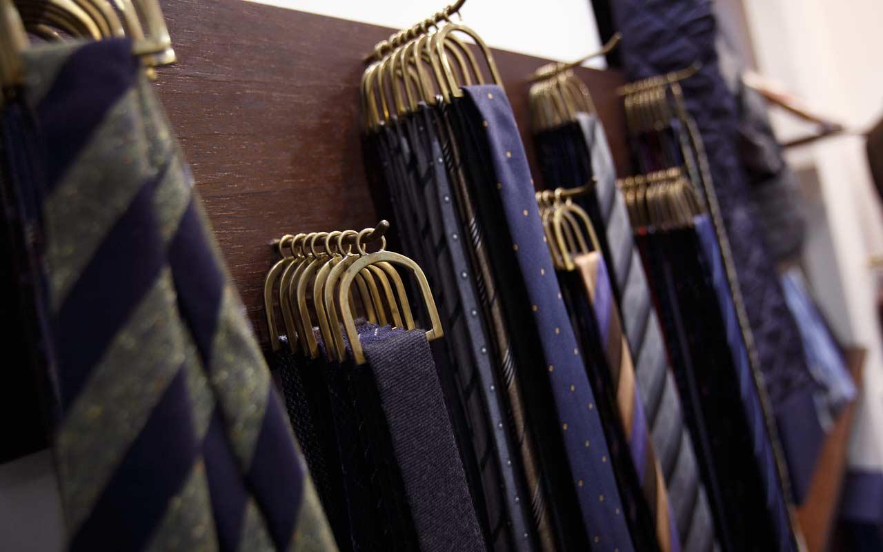 cravatte esposte