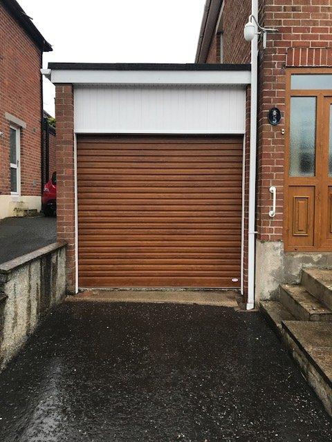 brown shutter door