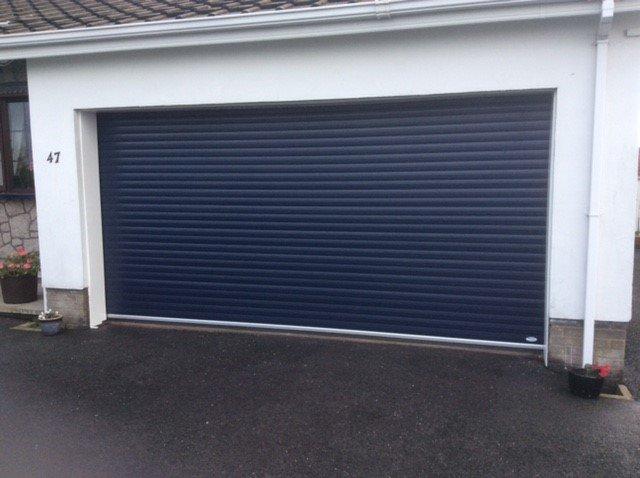 blue sectional door