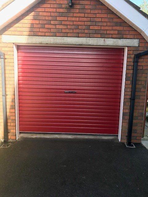 red shutter door