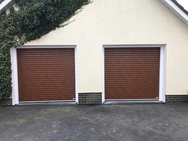 brown shutter doors