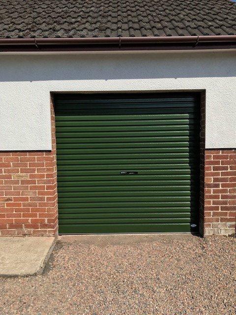 green shutter door