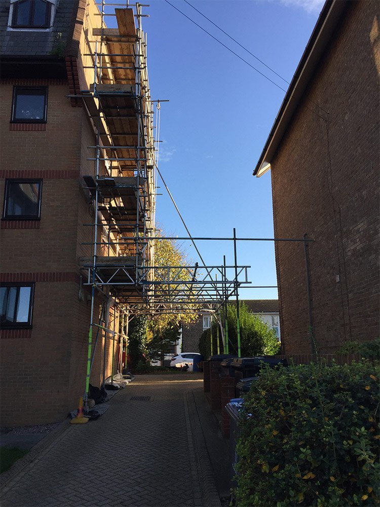 SJJ Scaffolding at the end of the day