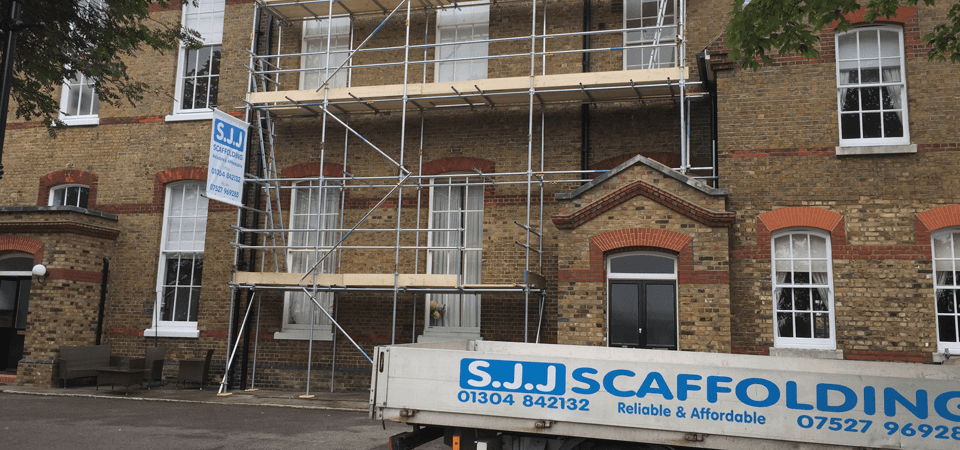 building site sorrounded by scaffolds